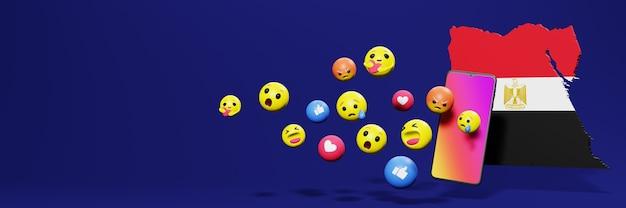 Użyj emotikonów w egipcie na potrzeby telewizji społecznościowej i tła strony internetowej, puste miejsce