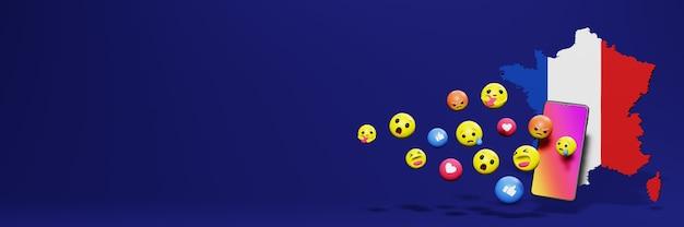 Użyj emotikonów we frankach na potrzeby telewizji społecznościowej i tła strony internetowej, puste miejsce