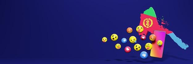 Używaj emoticon w erytrei na potrzeby telewizji społecznościowej i tła strony internetowej, puste miejsce