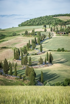 Val d'orcia, toskania