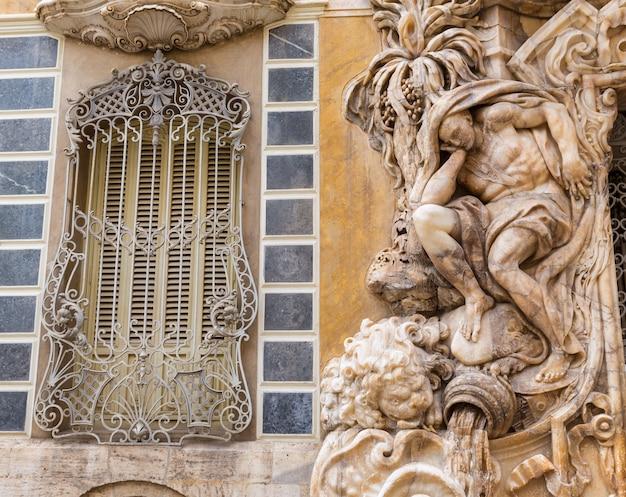 Valencia palacio marques de dos fasada pałacu aguas