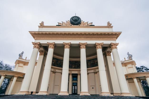 Vdnh, wystawa gospodarki narodowej rosji. pawilon energia atomowa