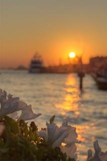 Venice sunset sky