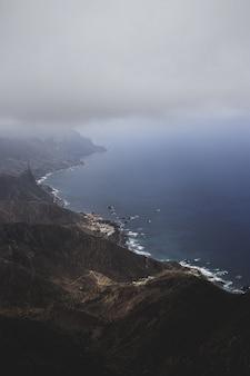 Vertical od słynnego rural de anaga park las hiszpania malowniczego parku przyrody