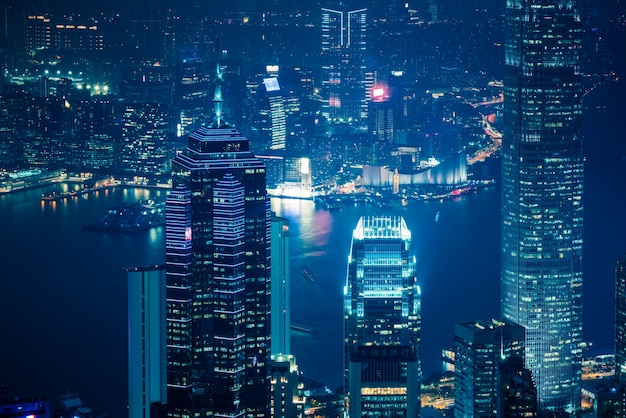 Victoria harbour w hongkongu, nowoczesna architektura