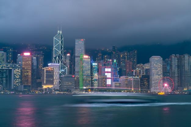 Victoria harbour w hongkongu