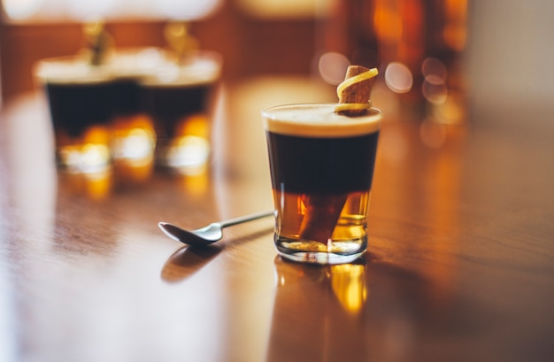 Vidrio destylarnia kawiarnia rum botella