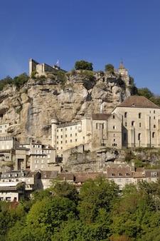 Village of rocamadour, midi-pyrenees, francja