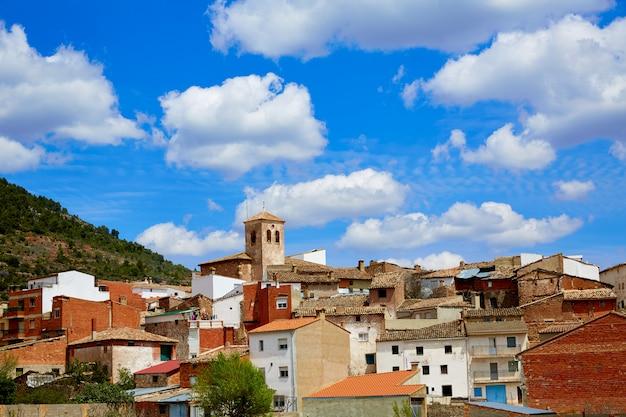 Villar del humo w cuenca hiszpania wioski linia horyzontu