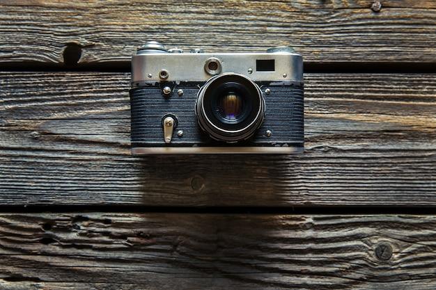 Vintage aparat na podłoże drewniane