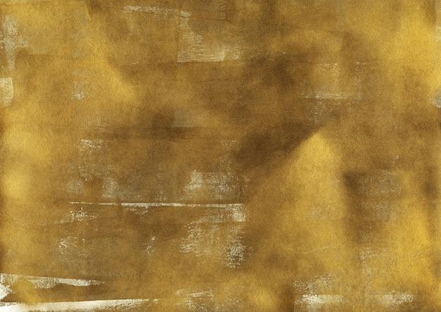 Vintage błyszczące złoto tekstury. streszczenie tło poplamiony papier. sztuka współczesna ze złotymi pociągnięciami pędzla akrylowego