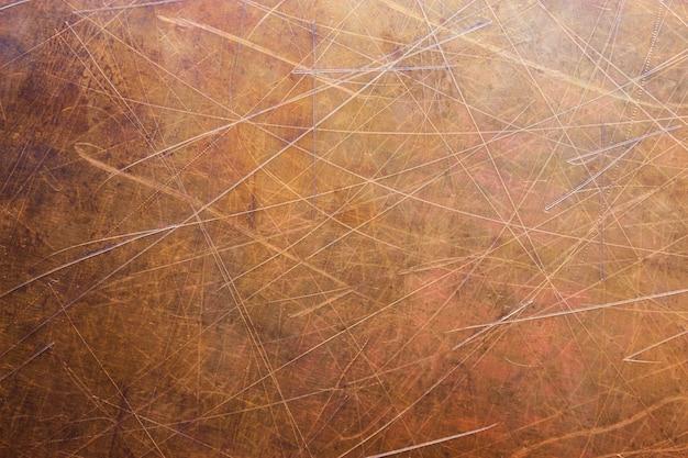 Vintage brązowa lub miedziana płyta, blacha nieżelazna jako tło