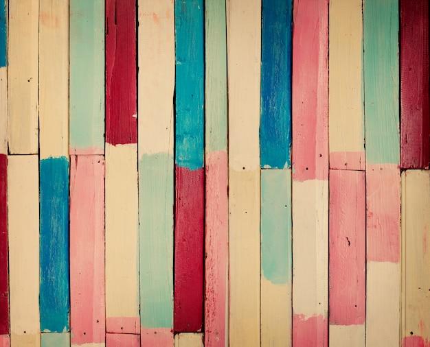 Vintage drewno kolorowe tło
