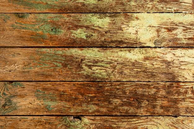 Vintage drewno z przetartą farbą