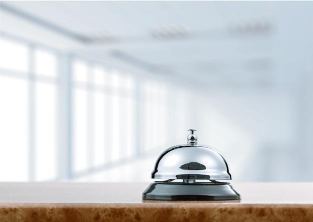 Vintage dzwonek recepcji hotelu.