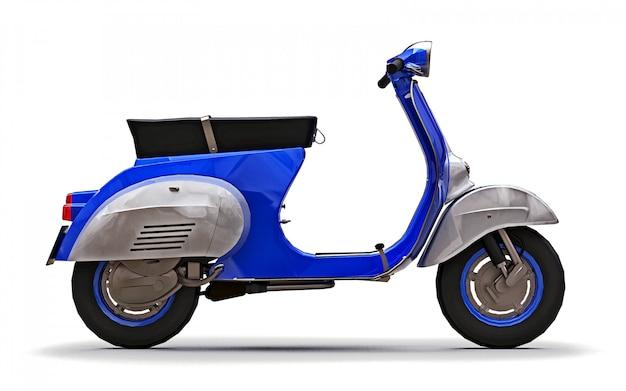 Vintage europejski niebieski skuter