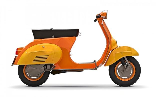 Vintage europejski skuter pomarańczowy