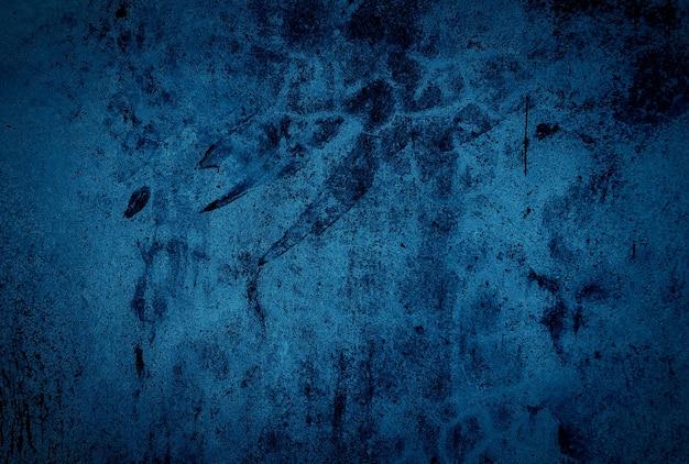 Vintage grunge niebieski beton tekstura ściana tła