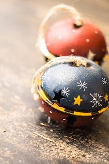 Vintage jingle bells jako koncepcja bożego narodzenia
