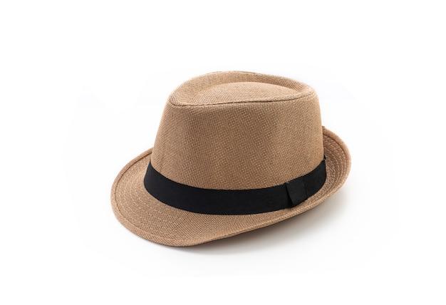 Vintage kapelusz na białym tle