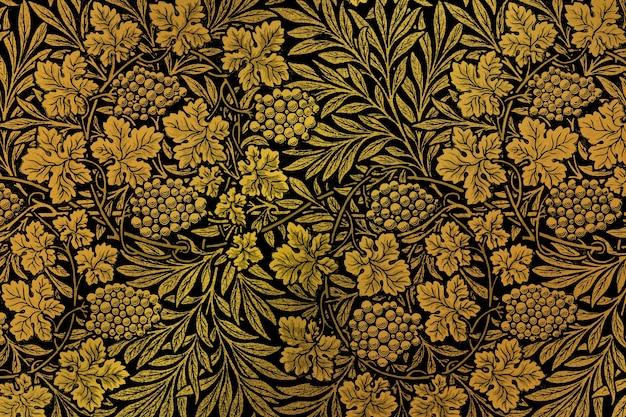 Vintage kwiatowy wzór remiksu tła z grafiki autorstwa williama morrisa
