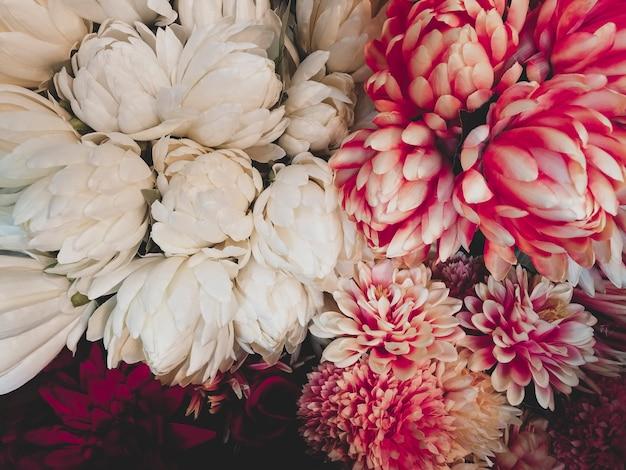 Vintage kwiaty w tle