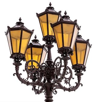 Vintage latarnia uliczna z lampami