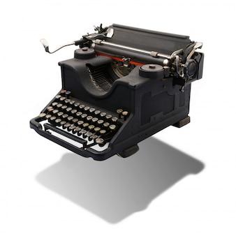Vintage maszyny do pisania na białym tle