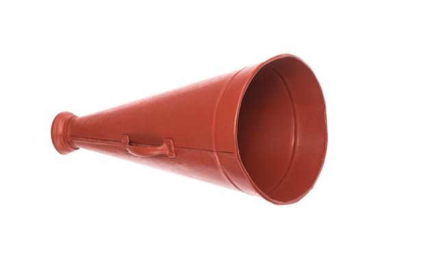 Vintage megafon na białym tle