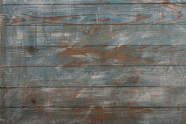 Vintage niebieskie tło tekstury drewna. stare malowane ściany z drewna