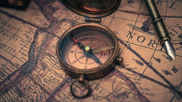 Vintage pirate compass