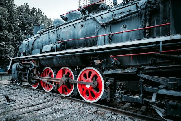 Vintage pociąg parowy