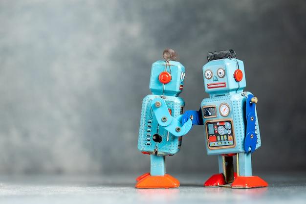 Vintage retro robot cyny zabawka