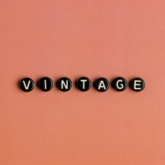 Vintage słowo alfabet koraliki z literami