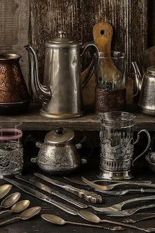Vintage srebrne sztućce