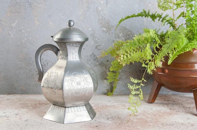 Vintage srebrny czajnik