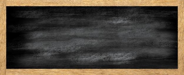 Vintage tekstura deski kredowej ze starą drewnianą ramą. użyj do pracy nad projektem