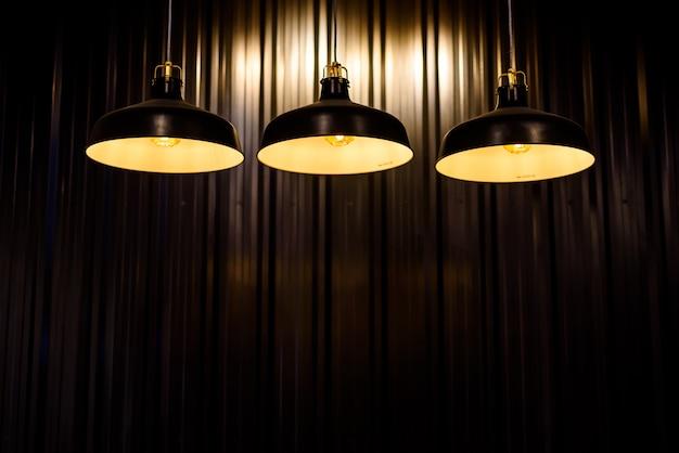 Vintage wisiorek żarówka oświetlenie wnętrza, ciepłe ilght