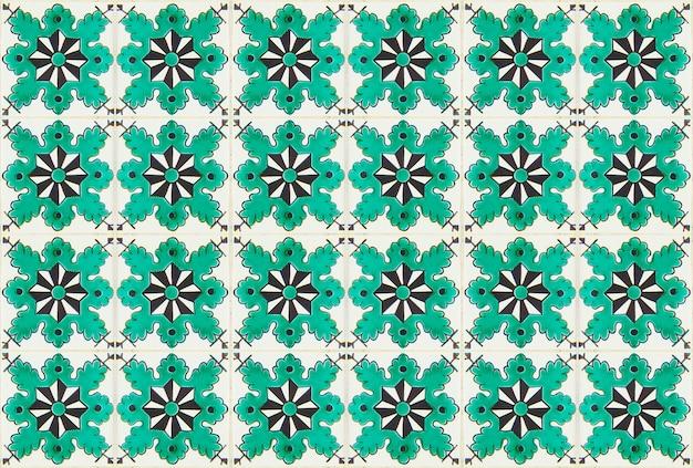 Vintage wzór geometryczny płytki. mozaika retro stare płytki