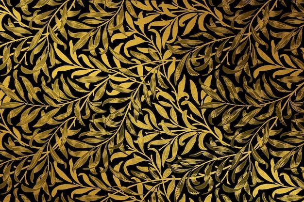 Vintage złoty kwiatowy wzór