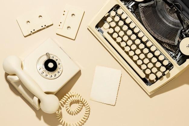 Vintage żółty układ telefoniczny