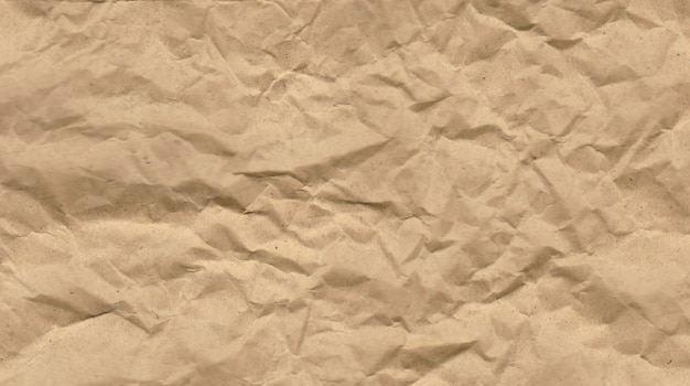Vintaged papier teksturowane tło brązowego zmiętego papieru