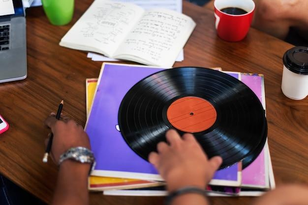Vinyl vintage equiptment music concept