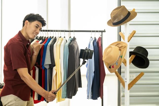Vlogger na żywo przegląd codzienne ubrania