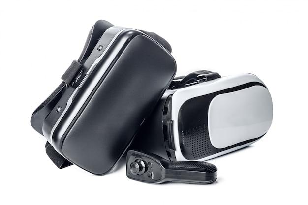 Vr, okulary wirtualnej rzeczywistości na białym tle
