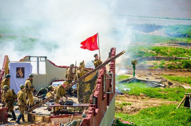 """W historycznym i kulturalnym centrum """"linii stalina"""" organizatorzy zorganizowali wydarzenia poświęcone dniu zwycięstwa 09 maja."""