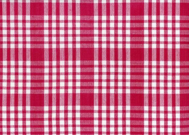 W kratkę czerwone tło tekstury tkaniny