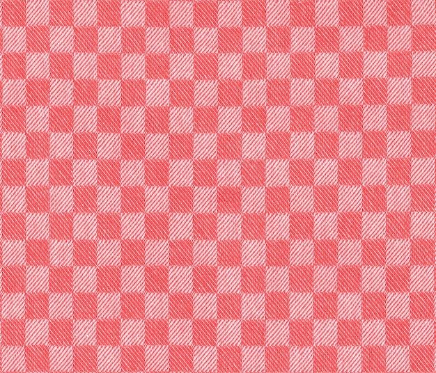 W kratkę czerwono-białe tło tekstury tkaniny