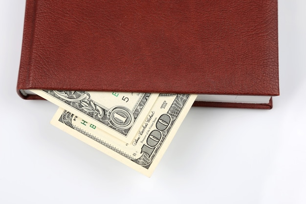 W notatniku znajdują się dolary