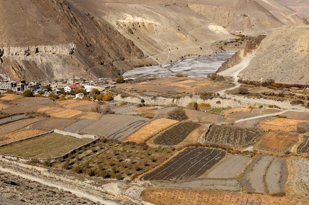 W pobliżu wsi cagbeni, lower mustang nepal